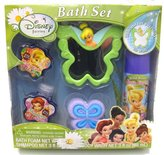 MZB Disney Fairies Tinkerbell Bath Time Reflections Spa Gift Set - Includes Mirror, Bath Foam, Body Wash, Shampoo and Pouf