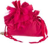 Lanvin Pompom Flower Evening Pouch Crossbody Bag
