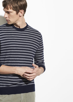 Vince Wool Cashmere Stripe Crew