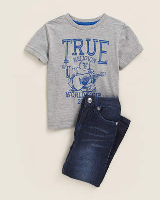 True Religion Toddler Boys) Two-Piece World Tour Tee & Jeans Set