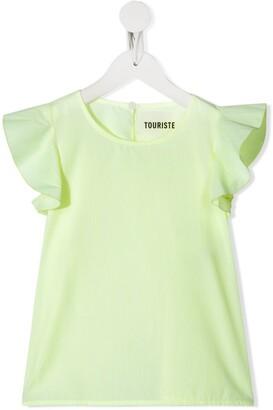 Touriste ruffled sleeves T-shirt