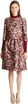 Oscar de la Renta Floral Damask Silk-Satin Jacquard Jacket
