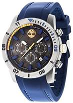 Timberland Men's Quartz Watch with Black Dial Analogue Display and Blue Silicone Strap TBL.14524JSU/02P