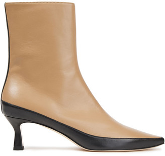Wandler Bente Two-tone Leather Ankle Boots