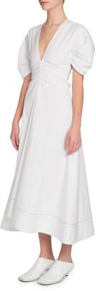 Proenza Schouler Ruched V-Neck Dress
