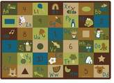 """Carpets for Kids 37712 Learning Blocks Nature Kids Rug Size x 11'8"""" x"""