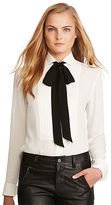 Polo Ralph Lauren Pleated-Bib Silk Shirt