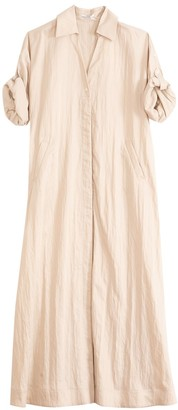 Co Viscose Twill Shirt Dress in Taupe