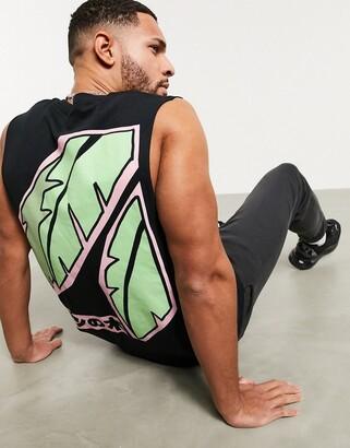 New Love Club palm tree oversized sleeveless t-shirt