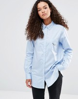YMC Embroidery Detail Shirt
