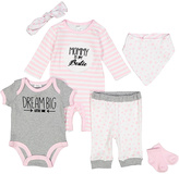 Baby Essentials Pink & White Stripe 'Mommy Is My Bestie' Playsuit Set - Infant