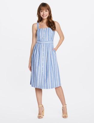 Draper James Strappy Midi Apron Dress