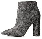 Charlotte Russe Qupid Glitter Pointed Toe Booties