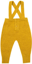 Caramel Danby Wool, Cashmere & Angora Trousers With Braces