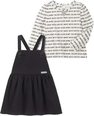Calvin Klein Little Girl's Jumper & Dress 2-Piece Set