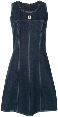 Fendi Pre Owned Sleeveless Denim Dress