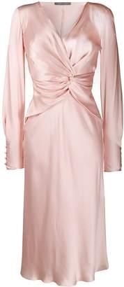 Alberta Ferretti drape style midi dress