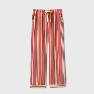 Stars Above Women's Striped Simply Cool Wide Leg Pajama Pants - Stars AboveTM Burgundy