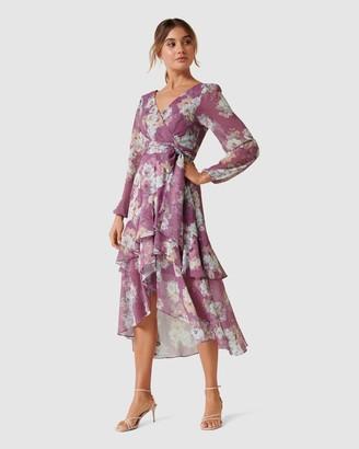 Forever New Petite Fleur Petite Long Sleeve Wrap Dress