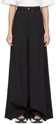 MM6 MAISON MARGIELA Black Wide-Leg Trousers