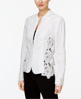 INC International Concepts Lace-Inset Jacket, Created for Macy's