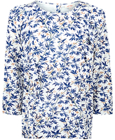 Fat Face Linley Song Bird Ruffle Top, Ivory