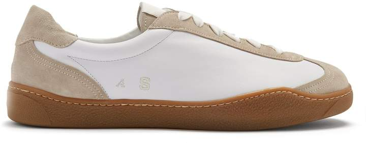 Acne Studios Lars bi-colour low-top nylon and suede trainers