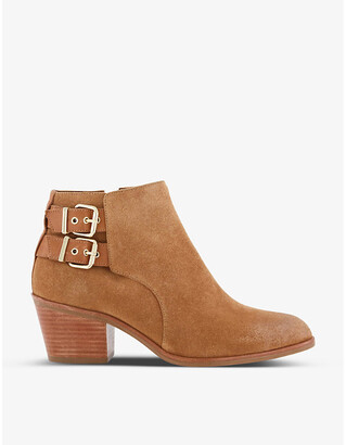 Dune Pinna Western heeled suede ankle boots