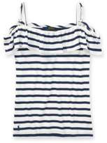 Ralph Lauren Striped Off-The-Shoulder Top Nevis/Rustic Navy S