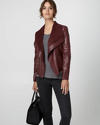 Le Château Faux Leather Open-Front Jacket