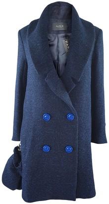 Paper London Blue Wool Coat for Women
