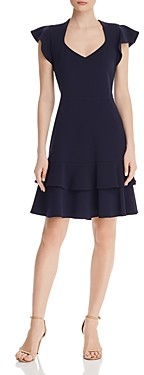 nanette Nanette Lepore Flutter-Sleeve Dress