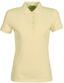 Benetton MONNIKHA women's Polo shirt in Yellow