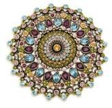 Heidi Daus Round Crystal-Embellished Pin