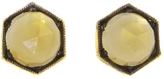 Cathy Waterman Blackened Hexagonal Citrine Stud Earrings