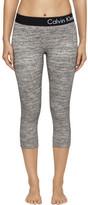 Calvin Klein Logo Elastic Seamed Crop Legging