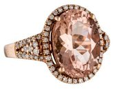 Ring Morganite and Diamond Cocktail