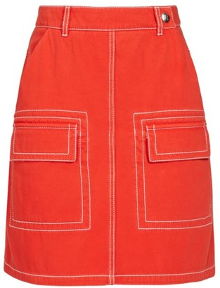 Kenzo Patch Pocket A-Line Skirt