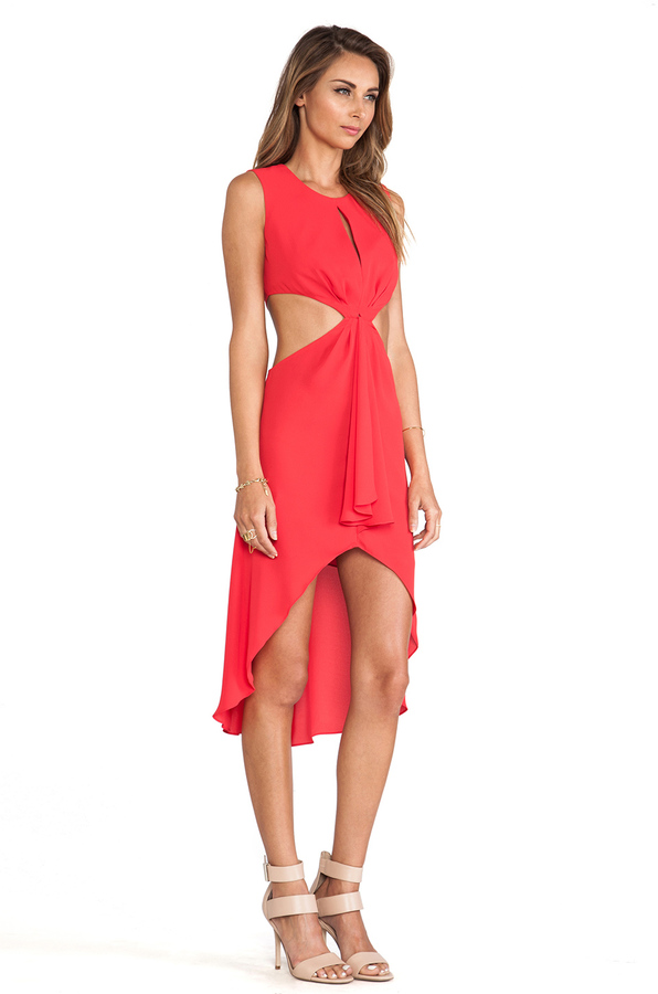 BCBGMAXAZRIA Victoria Cut Out Dress