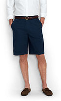 "Lands' End Men's Traditional Fit Comfort Waist 11"" Lightweight Casual Chino Shorts-Steeple Gray"