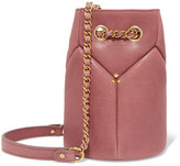 Jerome Dreyfuss Popeye Mini Textured-leather Bucket Bag - Antique rose