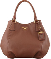 Prada Daino Shoulder Tote Bag, Brown (Palissandro)