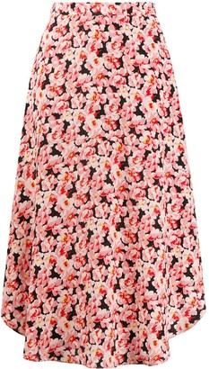 Stella McCartney floral midi skirt