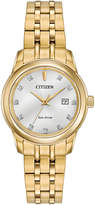 Citizen 26mm Diamond Bracelet Watch, Yellow Golden