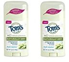 Tom's of Maine Women's Naturally Dry Antiperspirant Stick, Fresh Meadow, 2 Count