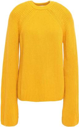 McQ Lace-up Ribbed Cotton Sweater
