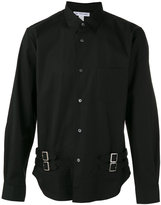 Comme des Garcons buckle detail long sleeve shirt - men - Cotton - S