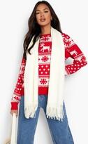 Boohoo Hollie Reindeers And Snowflake Christmas Jumper