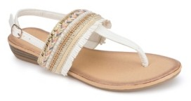 OLIVIA MILLER Seaside Fringe Wedge Sandals Women's Shoes