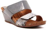 Sofft Vangie Steel Snake-Embossed Wedge Sandal